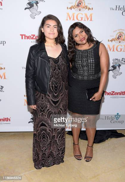 Evelyn Cortez and Mindy Kaling attend The Help Group's 21st Annual Teddy Bear Ball benefiting children with autism at The Beverly Hilton Hotel on...