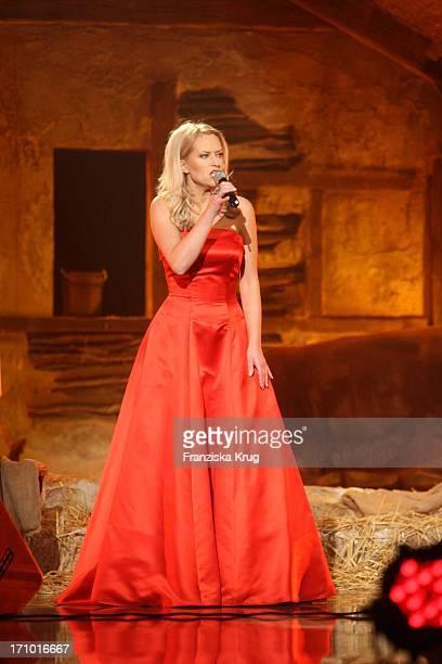 Evelyn Fischer Bei Der Generalprobe Zur Ard Jose Carreras Gala In Den Messehallen In Leipzig