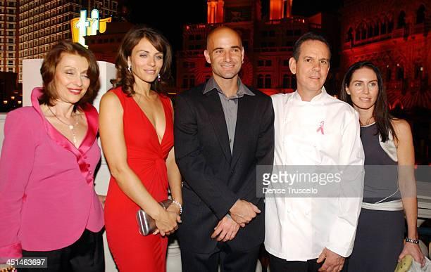 Evelyn H. Lauder, Elizabeth Hurley, Andre Agassi, Celebrity Chef Thomas Keller and Laura Cunningham