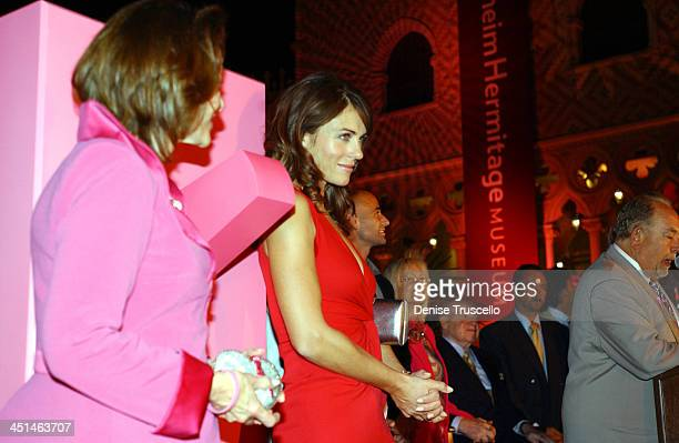 Evelyn H. Lauder, Elizabeth Hurley, Andre Agassi, Dr. Miriam Adelson, Sheldon G. Adelson and Robin Leach