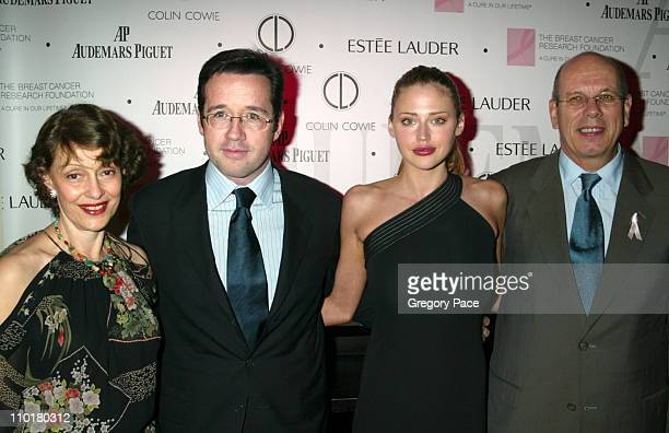 Evelyn H Lauder Francois Bennahmias Estella Warren and GeorgesHenri Meylan