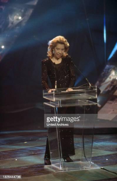 Evelyn Hamann bei der Verleihung des Telestar 1998 in Köln, Deutschland 1998 im Maritim Hotel(.