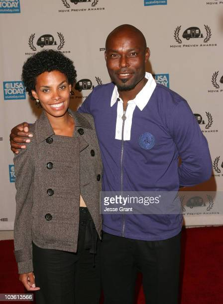 Evelyn JeanLouis and actor Jimmy JeanLouis arrive at the 9th annual Golden Trailer Awards held at the Orpheum Theatre on May 8 2008 in Los Angeles...