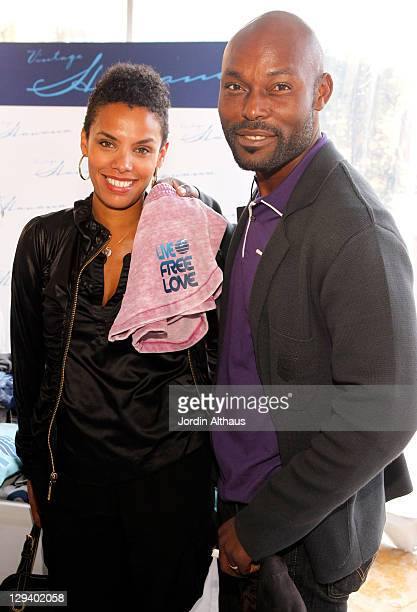 Evelyn JeanLouis and Jimmy JeanLouis attend Kari Feinstein's Academy Awards Style Lounge at Montage Beverly Hills on February 24 2011 in Beverly...