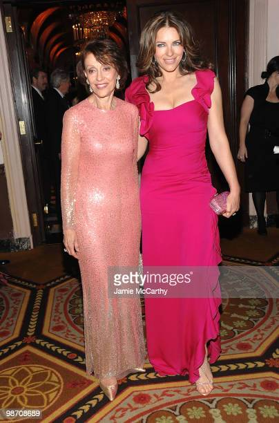 Evelyn Lauder and Elizabeth Hurley attend the 2010 Breast Cancer Research Foundation's Hot Pink Party at The Waldorf=Astoria on April 27 2010 in New...