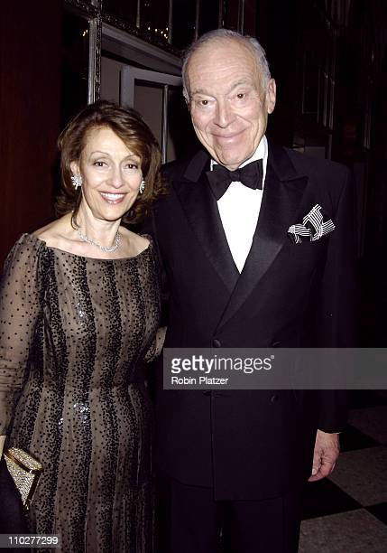 Evelyn Lauder and Leonard Lauder during 2nd Annual UNICEF Snowflake Ball Arrivals at The Waldorf Astoria Hotel in New York City New York United States