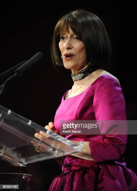 NEW YORK APRIL 08 Evelyn Lauder at the Waldorf Astoria during The Breast Cancer Research Foundation's Hottest Pink Party Ever 2008 on April 8 2008 in...