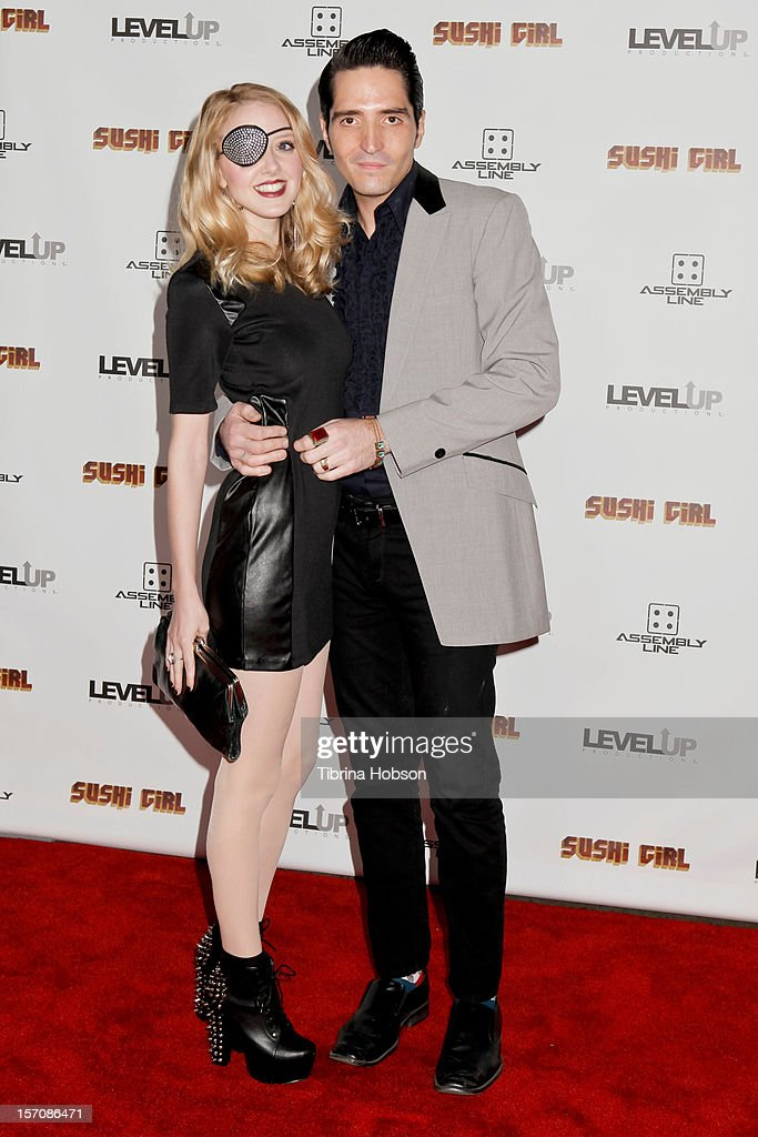 Evelyn Lee and David Dastmalchian attend the 'Sushi Girl' Los Angeles premiere at Grauman's Chinese Theatre on November 27, 2012 in Hollywood, California.