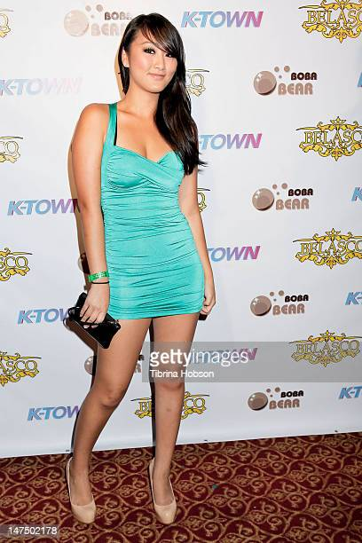 Evelyn Lin attends the new reality show 'KTown' red carpet premiere and launch party at Belasco Theatre on June 30 2012 in Los Angeles California