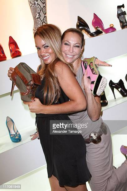 Evelyn Lozada and Lisa Pliner are seen at Dulce Shoe Boutique on May 6 2010 in Coral Gables Florida