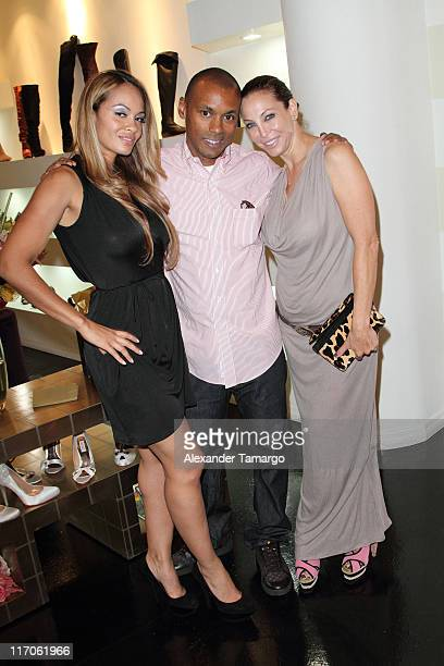Evelyn Lozada Mark Gumbel and Lisa Pliner are seen at Dulce Shoe Boutique on May 6 2010 in Coral Gables Florida
