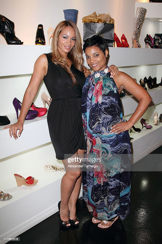 Amaris Jones are seen at Dulce Shoe Boutique on May 6, 2010 in Coral Gables, Florida.