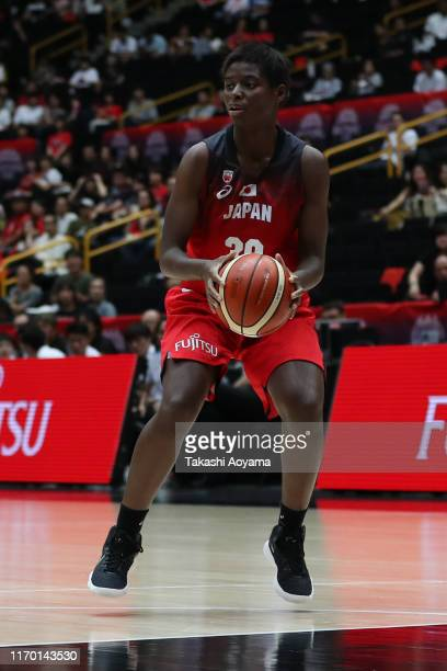 Evelyn Mawuli of Japan in action during the game two of the women's basketball international game between Japan and Chinese Taipei at Saitama Super...