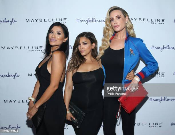 Evelyn McCullough Becka Janian and Kaki West attend Maybelline New York Celebrates First Ever Cobranded Product Collection With Beauty Influencer...