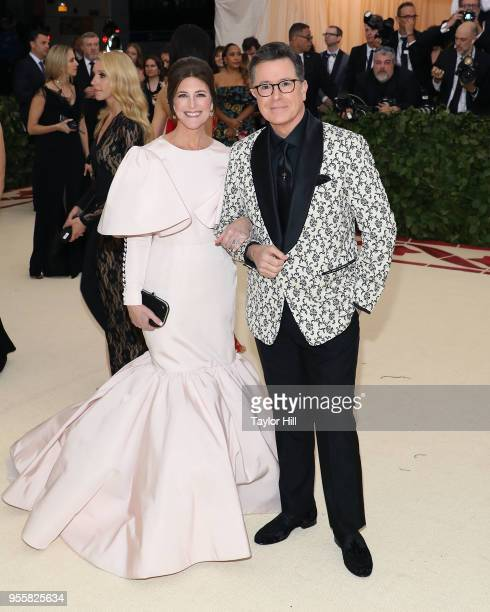 Evelyn McGeeColbert and Stephen Colbert attend Heavenly Bodies Fashion the Catholic Imagination the 2018 Costume Institute Benefit at Metropolitan...