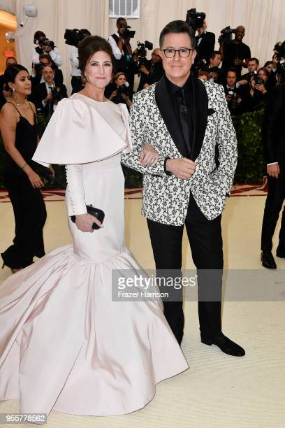 Evelyn McGeeColbert and Stephen Colbert attend the Heavenly Bodies Fashion The Catholic Imagination Costume Institute Gala at The Metropolitan Museum...