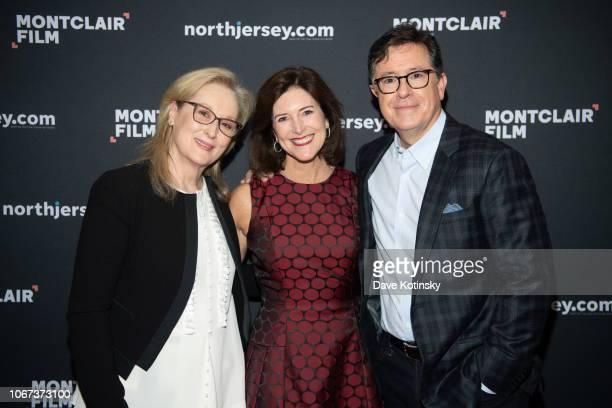Evelyn McGeeColbert Stephen Colbert Meryl Streep attend An Evening With Stephen Colbert Meryl Streep at NJPAC on December 1 2018 in Newark New Jersey
