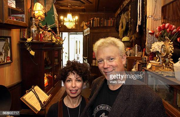 Evelyn Rudie and Chris DeCarlo stand in the hallway of the Santa Monica Playhouse that has presented shows for 40–years. The company is trying to...