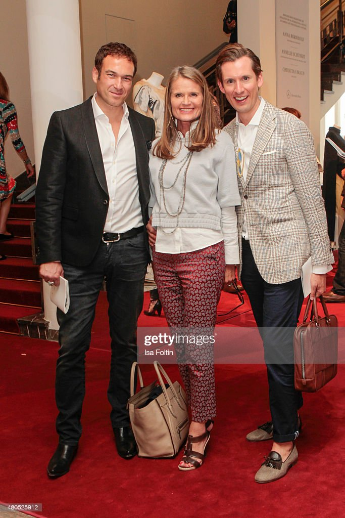 Evelyn Sallinger, Eike Knueppel and guest attend Der Berliner Modesalon on July 10, 2015 in Berlin, Germany.