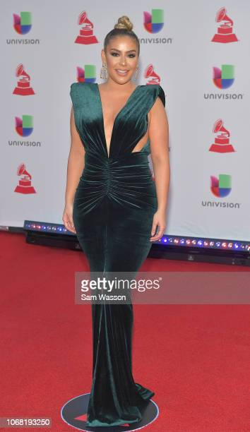 Evelyn Sicairos attends the 19th annual Latin GRAMMY Awards at MGM Grand Garden Arena on November 15 2018 in Las Vegas Nevada