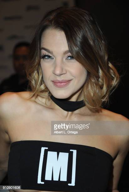 Evelyn Stone attends the 2018 AVN Adult Entertainment Expo at the Hard Rock Hotel Casino on January 26 2018 in Las Vegas Nevada