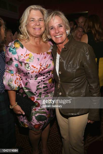 Evelyn Thompson and Liza Pulitzer attend David Patrick Columbia And Chris Meigher Toast The QUEST 400 At DOUBLES on September 27 2018 in New York City