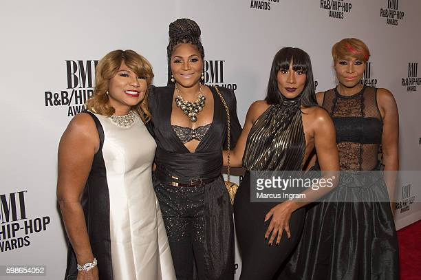 Evelyn Trina Towanda and Traci Braxton attend the 2016 BMI RB/HipHop Awards at Woodruff Arts Center on September 1 2016 in Atlanta Georgia