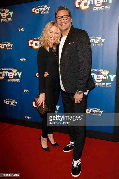 Evelyn Weigert and Mousse T attend the 21st Annual German Comedy Awards at Studio in Koeln Muehlheim on October 24 2017 in Cologne Germany