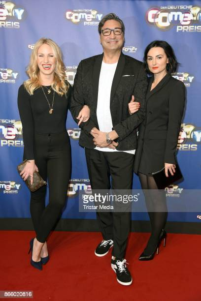 Evelyn Weigert Mousse T and Mimi Fiedler attend the German Comedy Awards at Studio in Koeln Muehlheim on October 24 2017 in Cologne Germany
