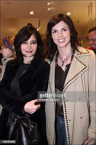 Evelyne Bouix and Caroline Barclay in Paris France on March 22 2006