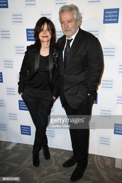 Evelyne Bouix and Pierre Arditi attend 'La Recherche en Physiologie' Charity Gala at Four Seasons Hotel George V on March 13 2017 in Paris France