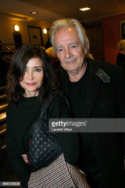 Evelyne Bouix and Pierre Arditi attend Laurent Gerra Sans Moderation Show at L'Olympia on December 26 2017 in Paris France