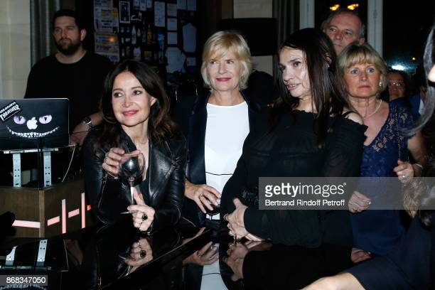 Evelyne Bouix Catherine Ceylac and Beatrice Dalle attend Claude Lelouch celebrates his 80th Birthday at Restaurant Victoria on October 30 2017 in...