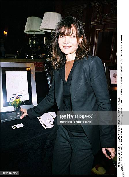 Evelyne Bouix godmother of Mario Queiroz party La Mode Dessine L'Espoir at the Grand Hotel in Paris