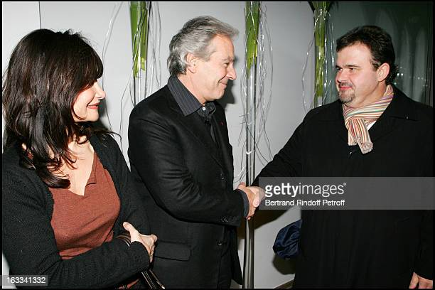 Evelyne Bouix Pierre Arditi and Pierre Herme at The Second Series Of Des Trois Coups De L' Angelus At Restaurant Apicius