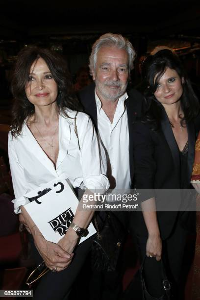 Evelyne Bouix Pierre Arditi and Salome Lelouch attend 'La Nuit des Molieres 2017' at Folies Bergeres on May 29 2017 in Paris France