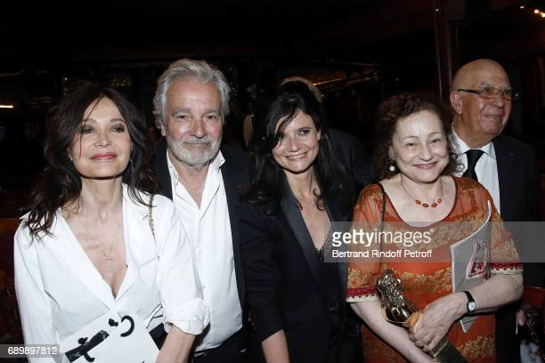 Evelyne Bouix Pierre Arditi Salome Lelouch and Catherine Arditi attend 'La Nuit des Molieres 2017' at Folies Bergeres on May 29 2017 in Paris France