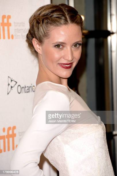 Evelyne Brochu arrives at the Dallas Buyers Club premiere during the 2013 Toronto International Film Festival at Princess of Wales Theatre on...