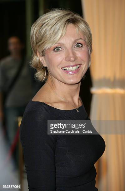 Evelyne Dheliat at the annual press conference of TV channel TF1