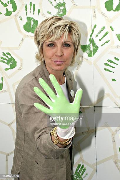 Evelyne Dheliat at the Press conference 'Challenge for the Earth' in Paris France on May 24 2005