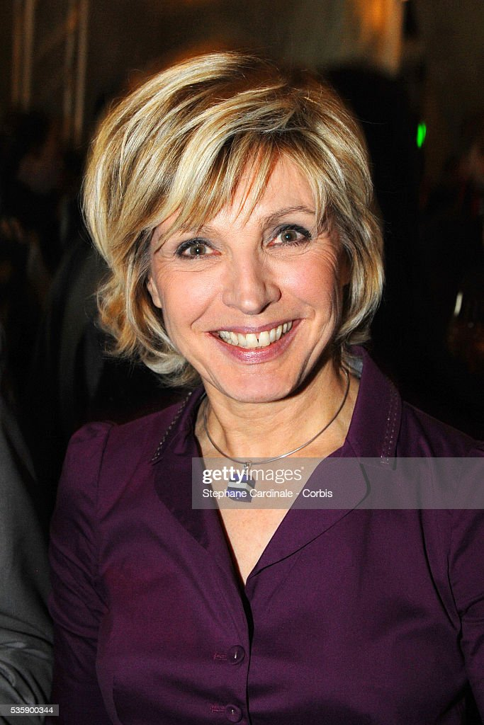 Evelyne Dheliat attends France Soir Launch Party in Paris.