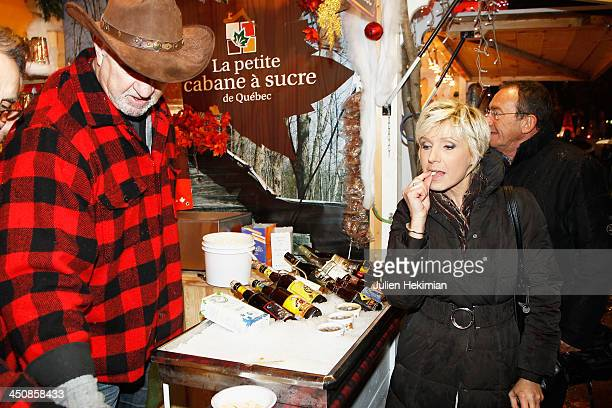 Evelyne Dheliat attends the launch of the Paris Christmas illuminations on November 20 2013 in Paris France