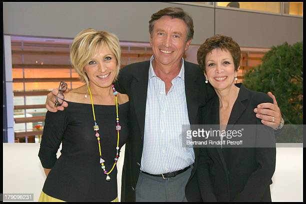 Evelyne Dheliat Jacques Legros and Christine Laborde at Press Conference For 'On Se Retrouve Sur TF1'