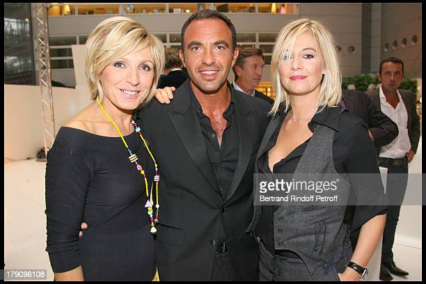 Evelyne Dheliat Nikos Aliagas and Flavie Flament at Press Conference For 'On Se Retrouve Sur TF1'