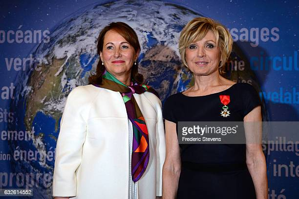Evelyne Dheliat receives the French Legion of Honor by Segolene Royal at the France Minister of Ecology on January 24 2017 in Paris France