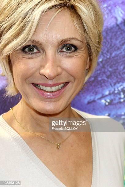 Evelyne Dheliat TF1 in Paris France on September 29 2006