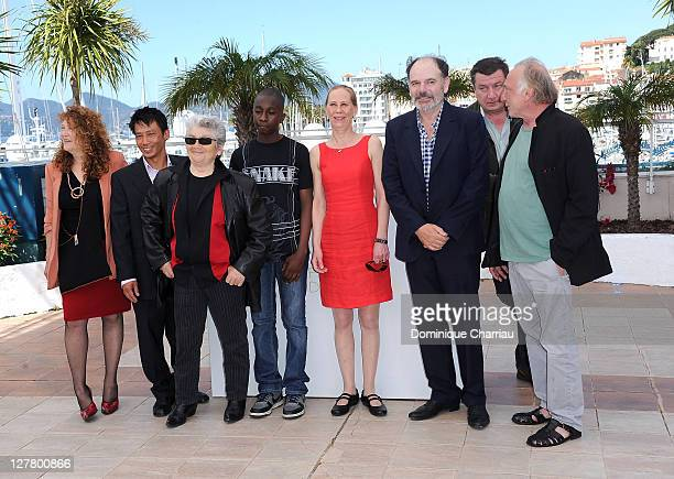 Evelyne Didi Quoc DungNguyen Little Bob guest Kati Outinen Director and writer Aki Kaurismaki JeanPierre Darroussin and Blondin Miguel attend the 'La...