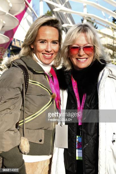 Evelyne Leclercq and her daughter attend the 25th Futuroscope's Birthday in Poitiers France on December 17 2011