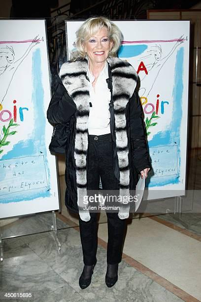 Evelyne Leclercq attends the 'Gala de l'Espoir' hosts by the Ligue Contre Le Cancer at Theatre des ChampsElysees on November 19 2013 in Paris France