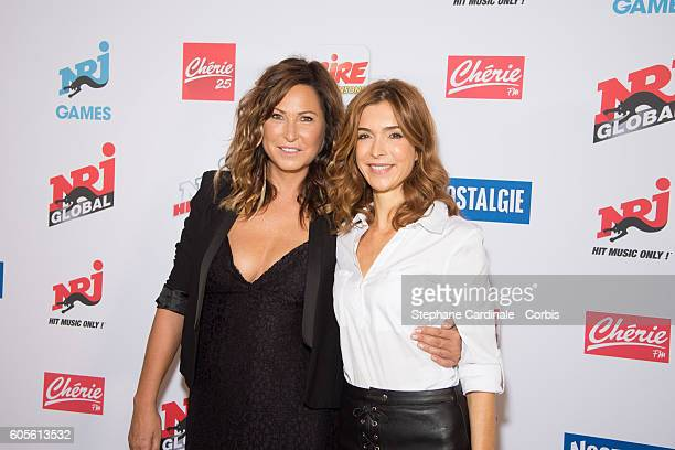 Evelyne Thomas and Veronique Mounier pose at the Photocall of NRJ Group at Musee du Quai Branly on September 14 2016 in Paris France
